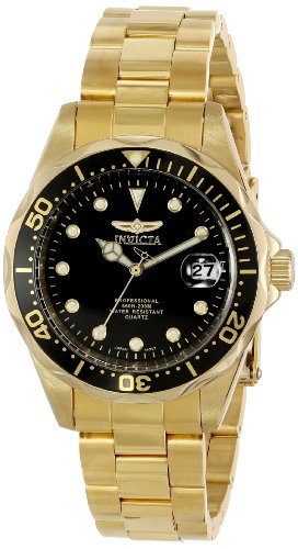 Invicta Men's 17051 Pro Diver Analog Display Japanese Quartz Gold Watch