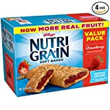 Kellogg's Nutri-Grain Cereal Bars, Strawberry, 10.4 oz, 16 Count - Pack of 4