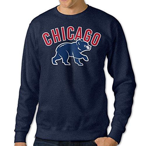 ShipElena Chicago Baseball Cubs Hoodies For Men 3X Navy