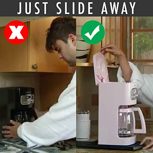 """1 Pcs Top Handy Caddy Multiuse Heavy Duty Handy Caddy Handbook 12/"""" Premium BPA-Free ABS Base Smooth Rolling Stand Cabinet Countertop Storage Blender Toaster Kitchen with Cleaning Wheels"""