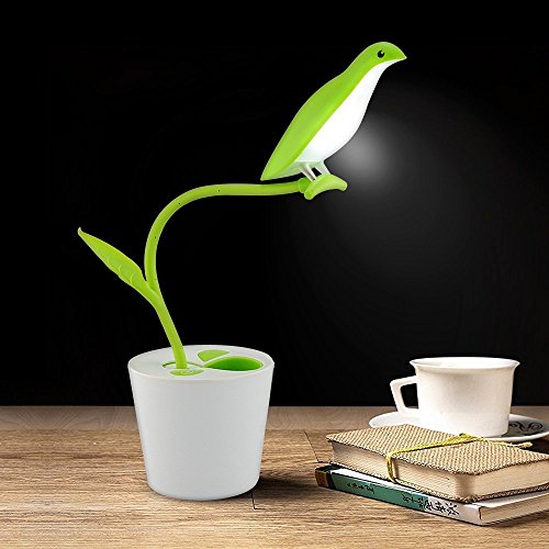 Color You Dimmable Touch Sensor Plant Desk Lamp USB Rechargeable LED Night Light Reading Light with 360 Degree Rotation Flexible Neck and Pen Holder for Kids Adult