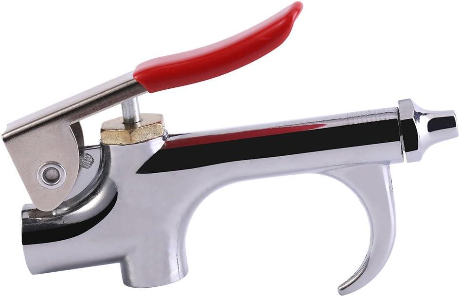Yosoo Pistola de soplado de Aire de aleación de Zinc Pistola de Aire compresor de soplador de Pistola de Kit, Pistola de eliminación de Polvo, Herramienta de Limpieza con Boquilla