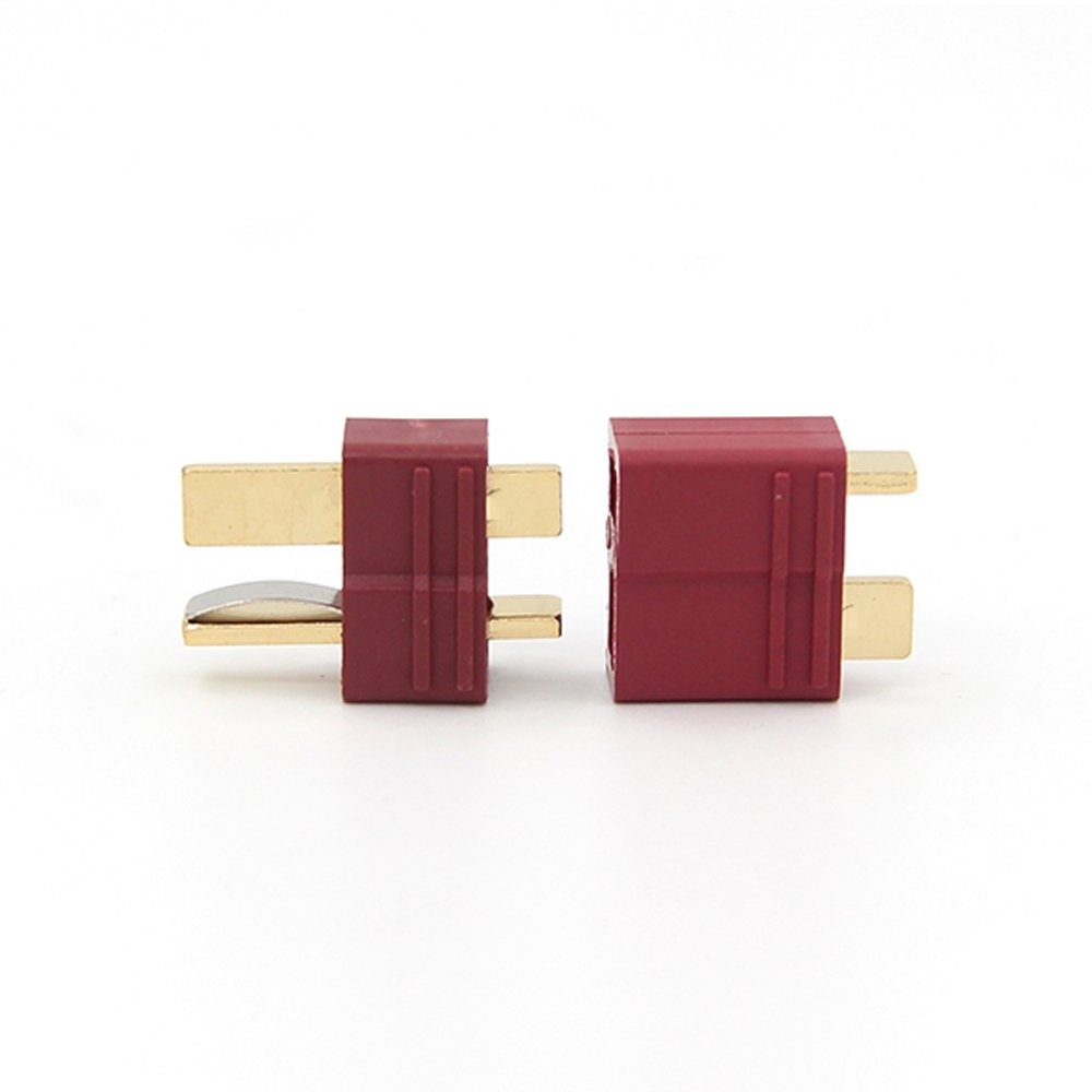10 Pairs Amass Heat Shrink Deans Style T Plug Connectors Male and Female Connectors for RC LiPo Battery+20 Packs Shrink Tubing YoWoo SG/_B071S6Z92Z/_US