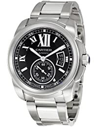 Mens W7100016 Calibre De Cartier Black Dial Watch