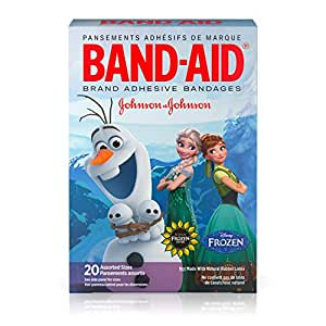 Band-Aid Brand Adhesive Bandages Featuring Disney Frozen, Assorted Sizes, 20 Count (Pack of 6)