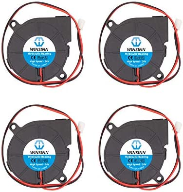 WINSINN 5015 12V 24V DC silencioso ventilador de refrigeración ...