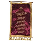 Lord prayer – Cloth Banner hanger – comes with stick for hanging