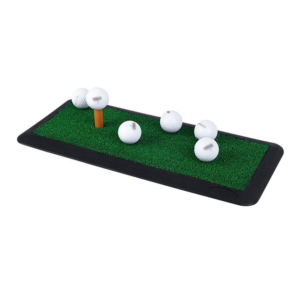 ゴルフマットホームゴルフラバーヒットパッド屋内スイングボールマットポータブル練習パッド(サイズ:47.5 * 20 cm)   B07N2KBJ6S