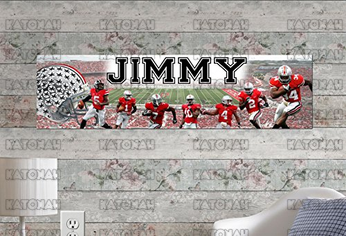 Customized Name Painting Ohio State Buckeyes Poster With Your Name On It Personalized Banner