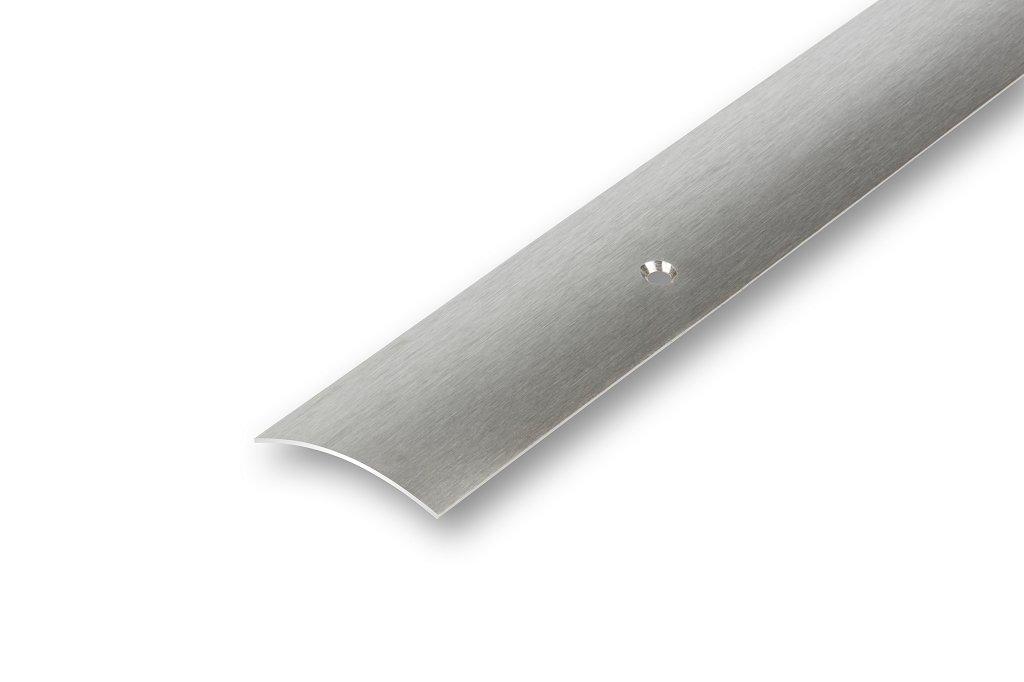 Montageset , matt geschliffen Edelstahl /Übergangsprofil mitte gebohrt 50 mm breit 1,18 m lang matt inkl 1,5mm 20,35/€//m 50 x 1180 mm mitte gebohrt