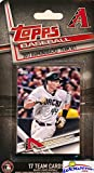 Arizona Diamondbacks 2017 Topps Baseball EXCLUSIVE Special Limited Edition 17 Card Complete Team Set with Paul Goldschmidt, Zack Greinke & Many More Stars & Rookies! Shipped in Bubble Mailer! WOWZZER!