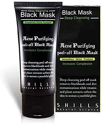 Shills Purifying Blackhead Removing Peel Off Black Mask Pre Treat And Post Treatment Steps Effective Peel Off Charcoal Deep Cleansing Acne Removing Face Mask 50 Ml Amazon Fr Beauté Et Parfum