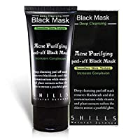 SHILLS Blackhead, Wrinkles, Anti Acne Black Mask. Removes blemishes- Purifyies, Cleanses Skin. Activated Charcoal (50 ml)