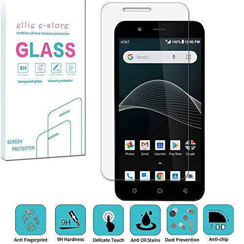 AT&T Axia QS5509A, Cricket Vision DQON5001 [Glass Screen] [9H] HD Clear Clarity and Touchscreen .03mm Tempered Glass Protector Glas Shield for AT&T AXIA (2018), Cricket Vision - Screen Cricket Protector