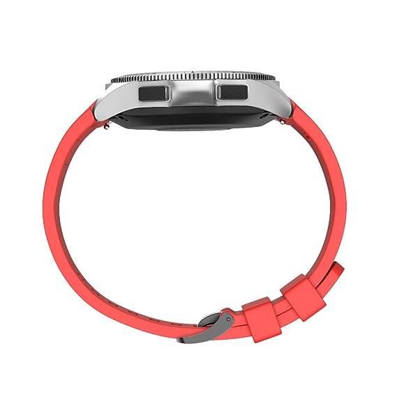 para Samsung Galaxy Watch 46mm Sport Suave Correa de Repuesto de Silicona Correa de Reloj Reemplazo Banda Pulseras de Repuesto Correa de Reloj Inteligente ...