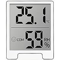 YUSHU Higrómetro digital portátil termómetro interior medidor de humedad para el hogar oficina e invernadero monitor de…