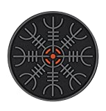 M-Tac Helm of Awe Viking Morale Patch PVC Norse Rune Vegvisir Morale (Gray)