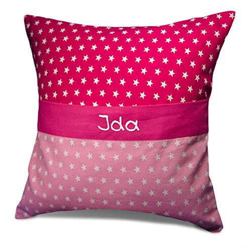 Mein Name Sterne Kissen Pink, 40x40 Cm Kinderkissen Mädchen Und Junge, Kissen  Kinder: Amazon.de: Spielzeug