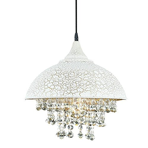 White Acrylic Dome Ceiling Pendant Light