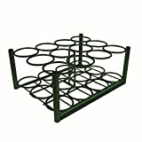 Roscoe Medical Roscoe C/D/E cylinder rack, with bolt down bars, green powder-coat, Cylinder capacity: 12