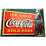 COCA COLA (2) TIN METAL SIGN 20 X 30 CM by Bless