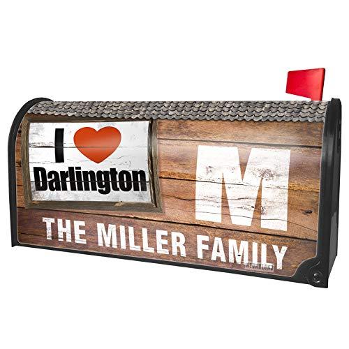 NEONBLOND Custom Mailbox Cover I Love Darlington Region: