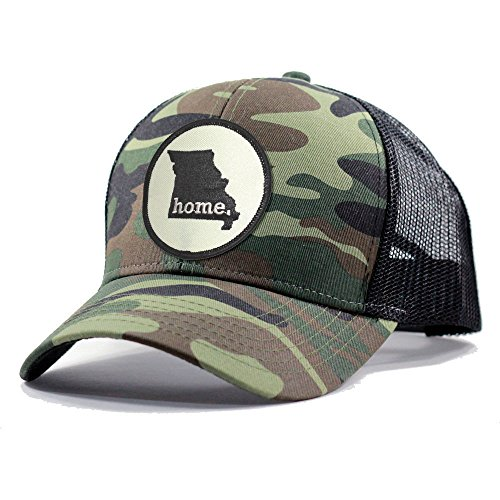 (Homeland Tees Men's Missouri Home State Army Camo Trucker Hat - Black )