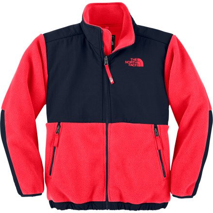 The North Face Boy's Denali Fleece Jacket - L(14/16) Red/Deep Water by The North Face