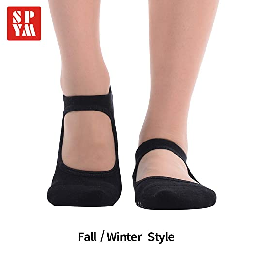 ac74ba64ac33 Image Unavailable. Image not available for. Color  Non-slip cotton yoga  socks for women aerial grips socks for pilates dance barre ballet