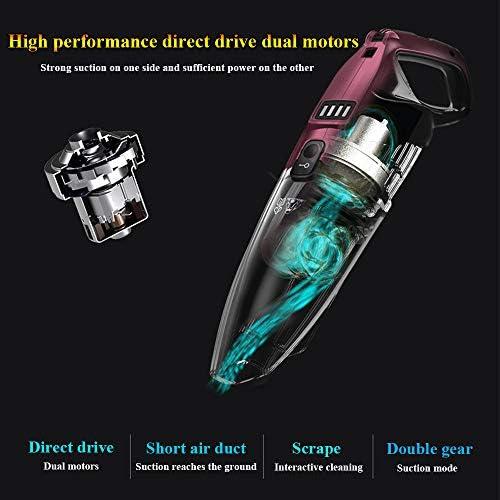 YHM Aspirateur sans Fil Domestique Puissant aspirateur à Main Haute Puissance, aspirateur Rechargeable Vertical