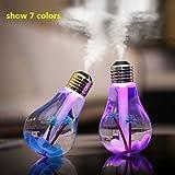 Live Direct 1 pcs USB Mini 400ml Colorful Bulb humidifier Air...
