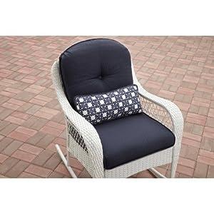 Outdoor Rocking Chair Azalea Ridge, Blue/White