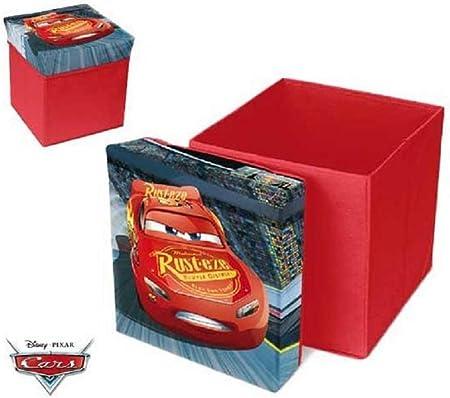 Disney - Caja para Guardar taburetes, diseño de Rayo Mcqueen ...