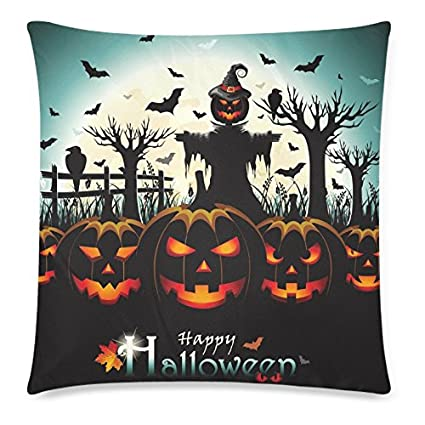 Happy Halloween Home Decor, Pumpkin Bat Bird Moon Night