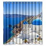 Design Your Own Shower Curtain Flaun Landscape Romantic Greece Coast Custom Create Design Your Own Waterproof Shower Curtain Bathroom Curtains es