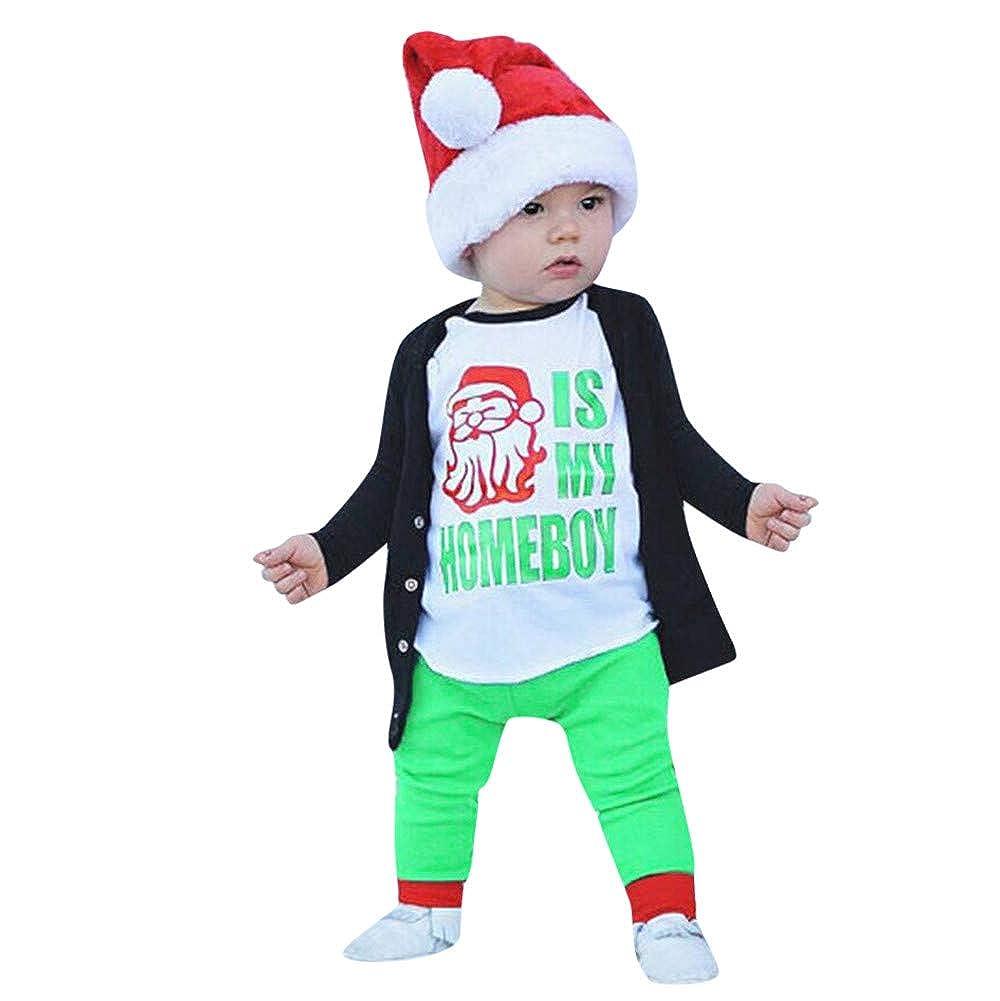 Tronet Christmas Kids Boys Girls Letter Print T-Shirt Tops for Children