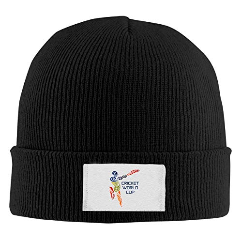 - Cricket World Cup Knit Hat Beanie Caps Funny Unisex Winter Black