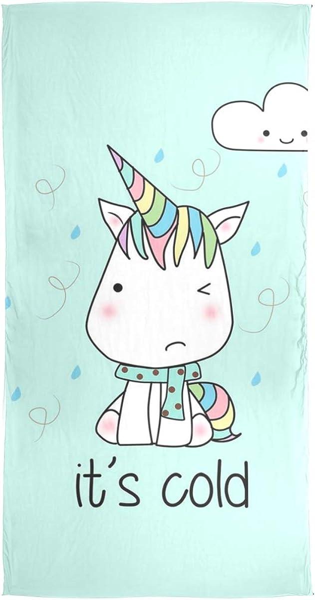 Scarf Cute Baby Unicorns Womens Chiffon Scarves Beach Thin Shawl Wrap