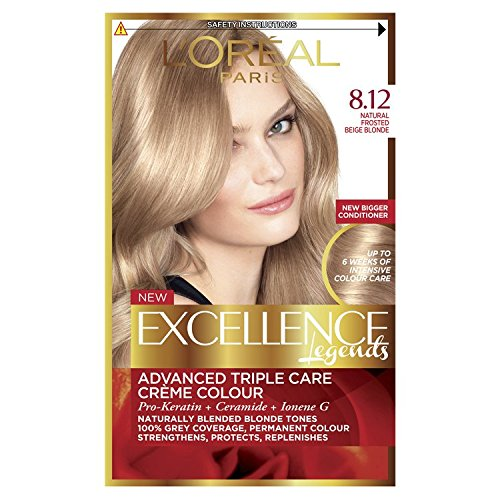 Loréal excellence creme 8 12 natural frosted beige blonde hair dye