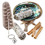 JL Local Smudge Kit - Sage, Palo Santo, Abalone Shell, Tripod, Feather & Free Gift!! Healing, Smudging, Cleansing, Purifying, Stress Relief