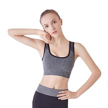 ZHANGLUO Sujetador Deportivo de Yoga para Mujer Correr ...