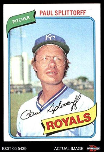 - 1980 Topps # 409 Paul Splittorff Kansas City Royals (Baseball Card) Dean's Cards 7 - NM Royals