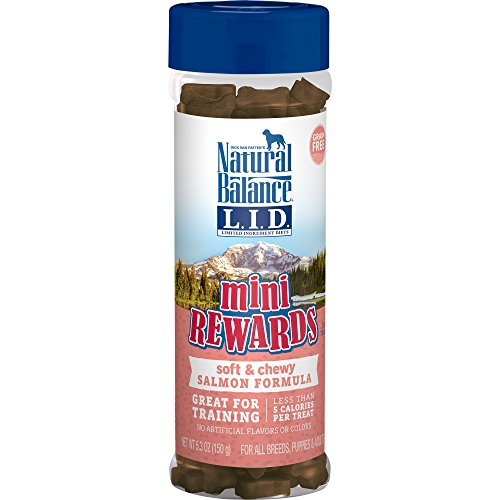 Natural Balance L.I.D. Limited Ingredient Diets Mini Rewards Soft & Chewy Salmon Formula Dog Treats, 5.3-Ounce