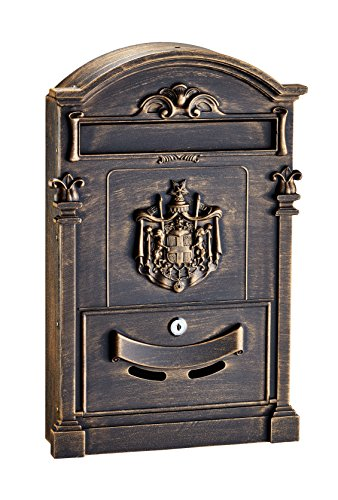 - AdirHome Bronze Steel Coat of Arms Mailbox