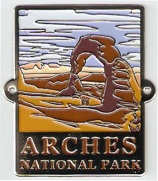 Arches National Park - Hiking Stick Medallion (Walking Staff Medallions)