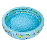 Inflatable Swimming Pool Baby Fishing Pool Bath Plate Children's Paddling Pool Marine Ball 100, Blue / Pink / Yellow, 130 35cm ( Color : Blue )