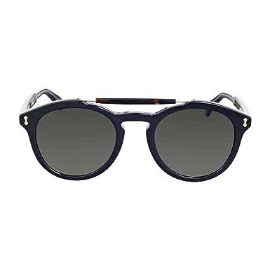 Gucci Herren Sonnenbrille GG0124S 003, Blau (Bluee/Bluee), 50