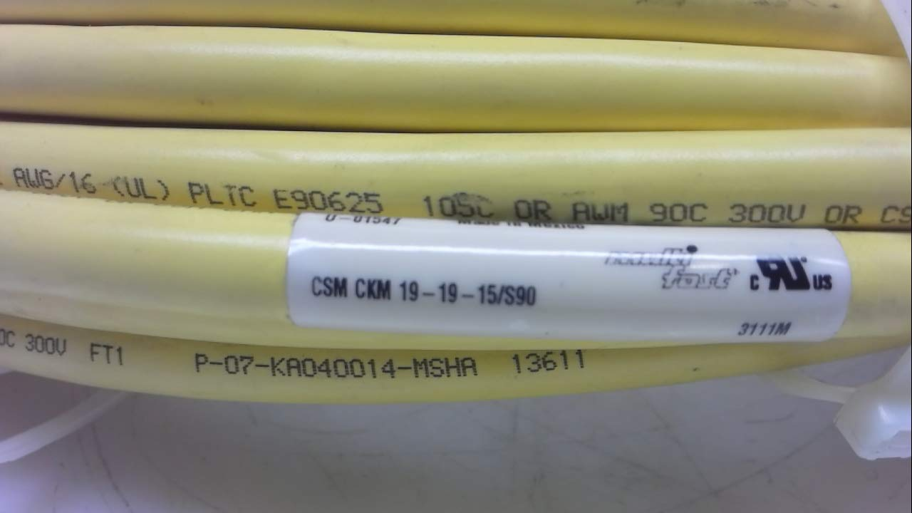 Turck CSM Ckm 19-19-15//S90 15 Meters CSM Ckm 19-19-15//S90 19 Pole Double Ended Cordset