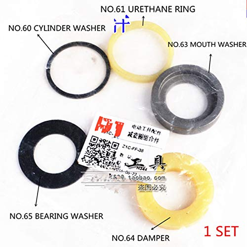 Maslin Cylinder Washer Urethane Ring Mouth Washer Damper and Bearing Washer Assy Replacement for HITACHI PR-38E PR-25B 956225 956224 ()