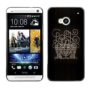 TECHCASE**Cubierta de la caja de protección la piel dura para el ** HTC One M7 ** Empire 6